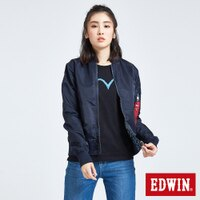 風衣外套推薦到EDWIN 雙面迷彩 MA-1風衣外套-女款 丈青就在EDWIN推薦風衣外套
