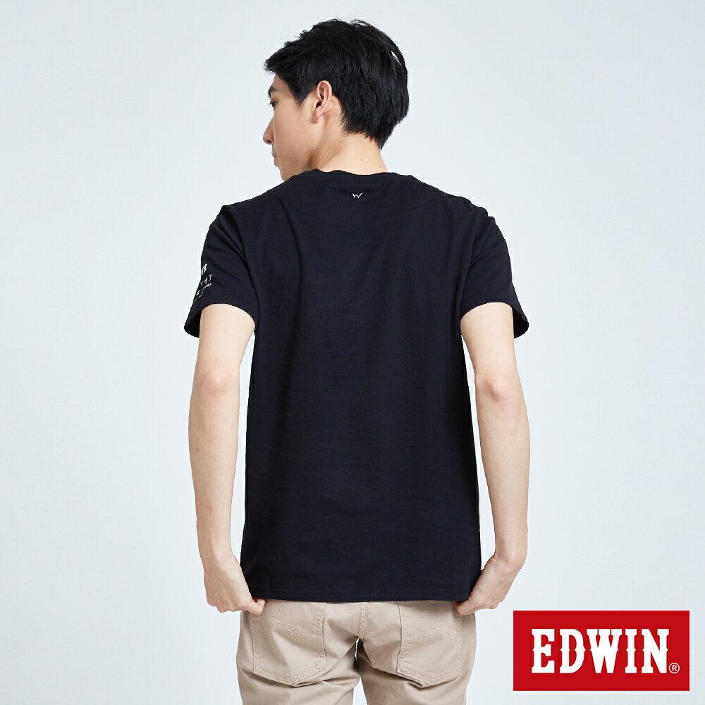 EDWIN BASIC 素面口袋 短袖T恤-男款 黑色 東京系列   APP結帳限定折扣  單件憑序號 GT-MEN1906 單筆799再折70元 [限用一次] 1