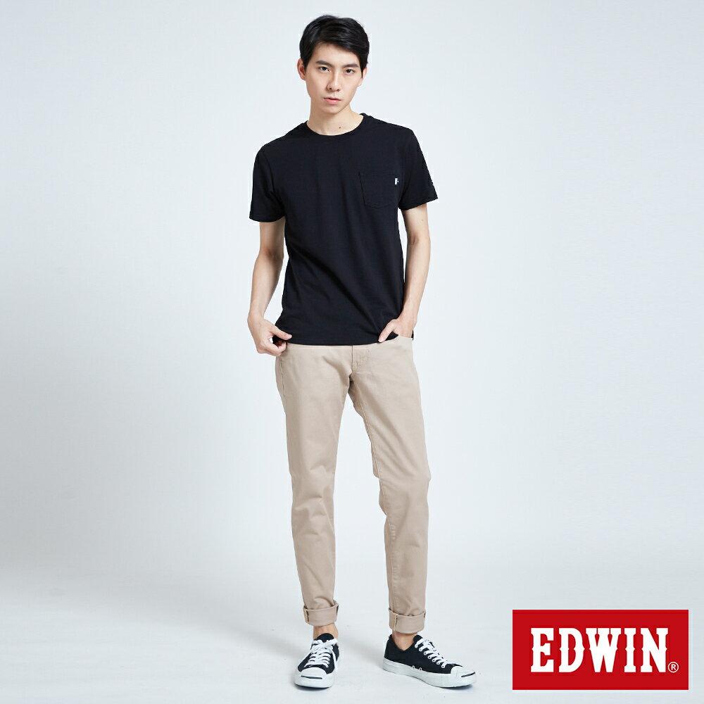 EDWIN BASIC 素面口袋 短袖T恤-男款 黑色 東京系列   APP結帳限定折扣  單件憑序號 GT-MEN1906 單筆799再折70元 [限用一次] 4