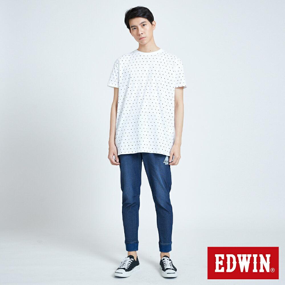 EDWIN 61印花點點 長版短袖T恤-中性款 白色 東京系列 6