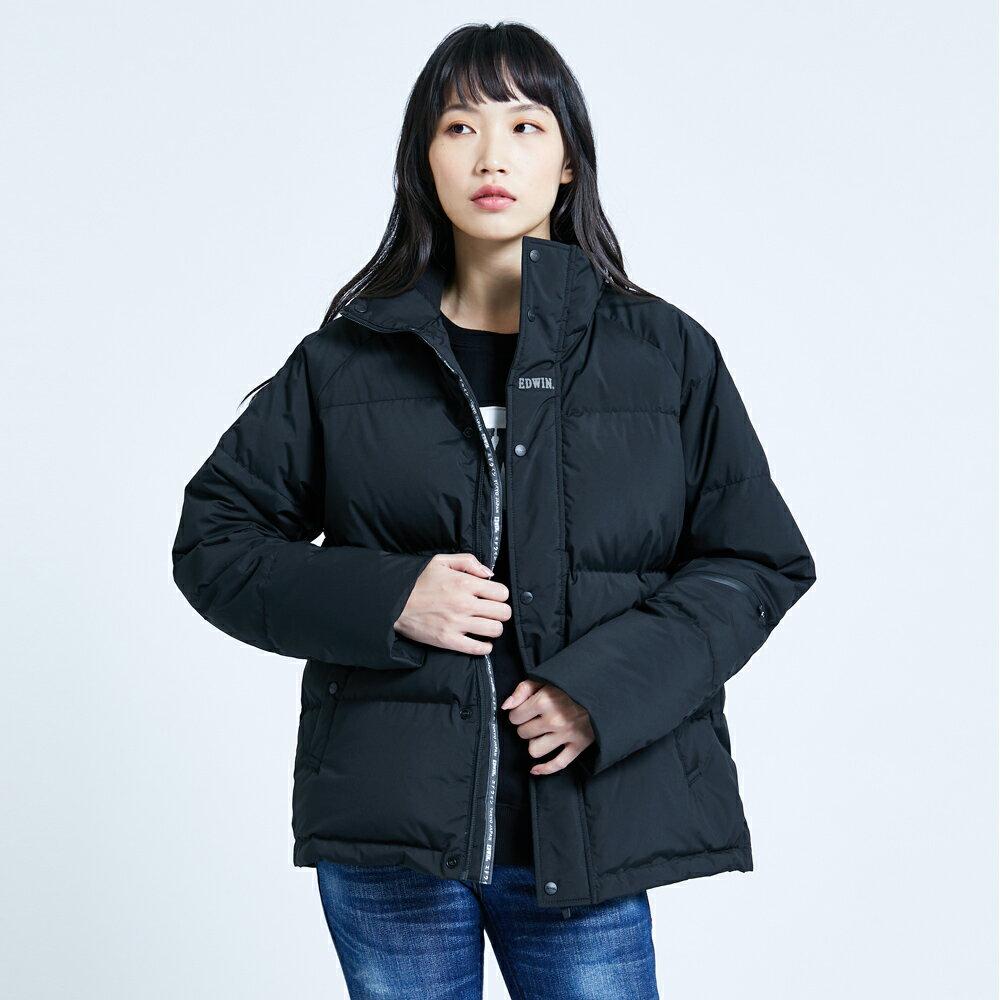 【滿額領券折$150】EDWIN 羽絨外套-男女款  黑色
