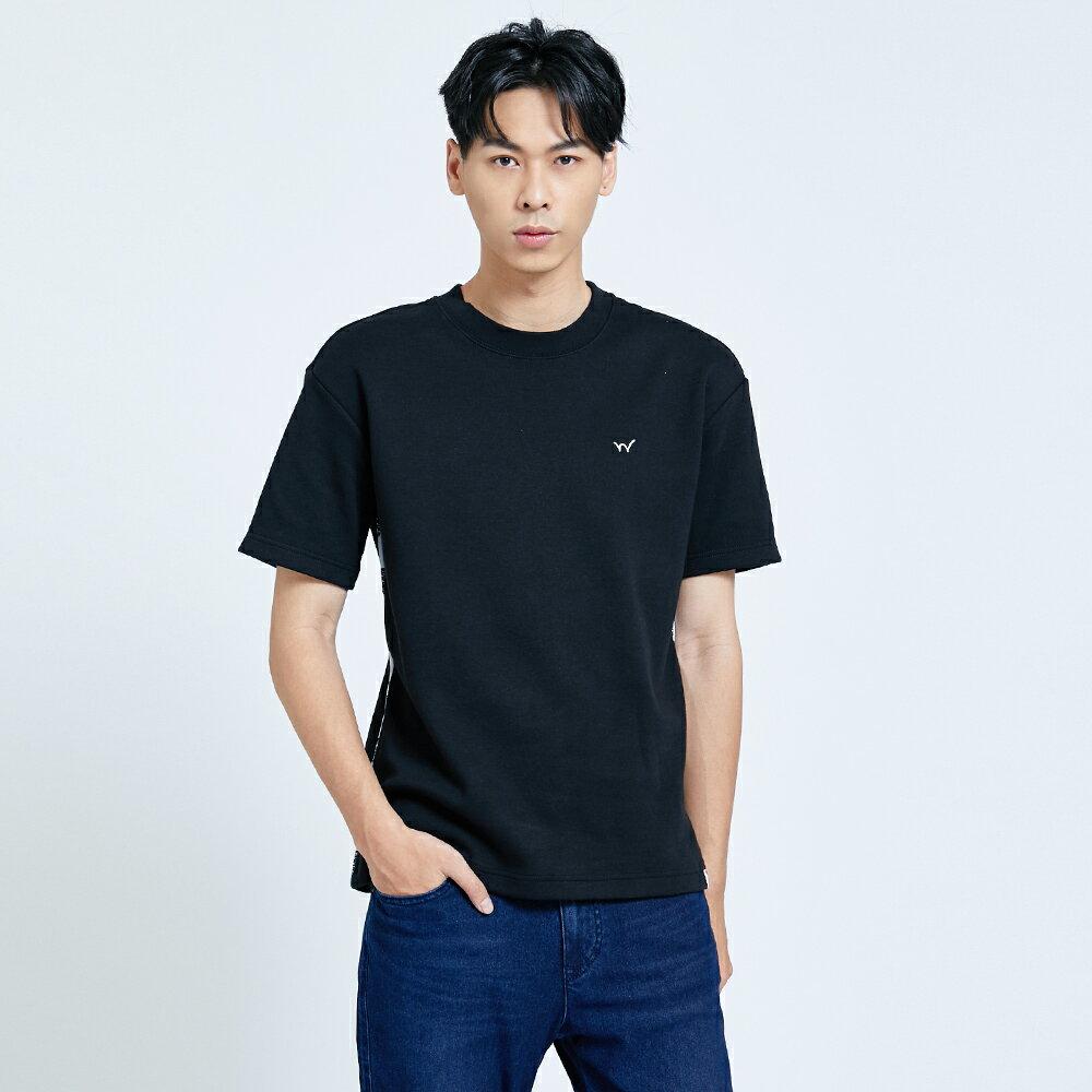 新品↘EDWIN EFS 寬版厚磅 短袖T恤-男款 黑色 1