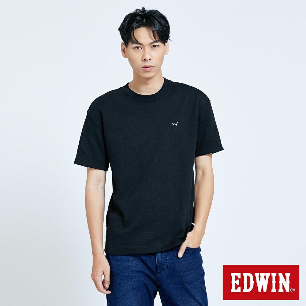 新品↘EDWIN EFS 寬版厚磅 短袖T恤-男款 黑色 0