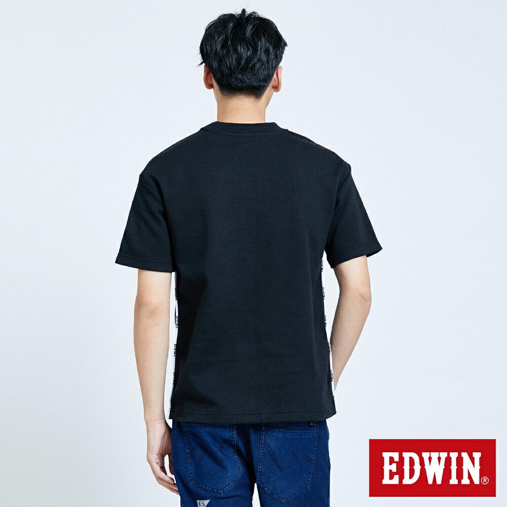 新品↘EDWIN EFS 寬版厚磅 短袖T恤-男款 黑色 2