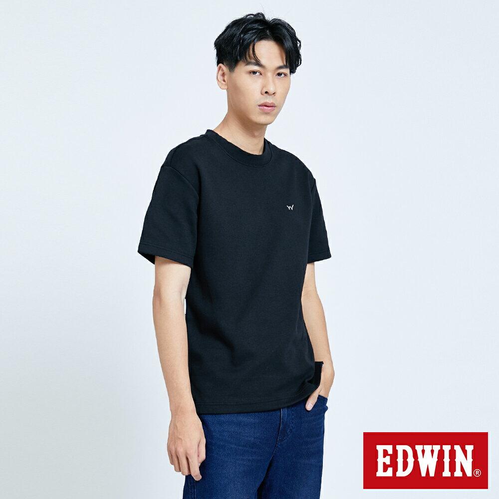 新品↘EDWIN EFS 寬版厚磅 短袖T恤-男款 黑色 3