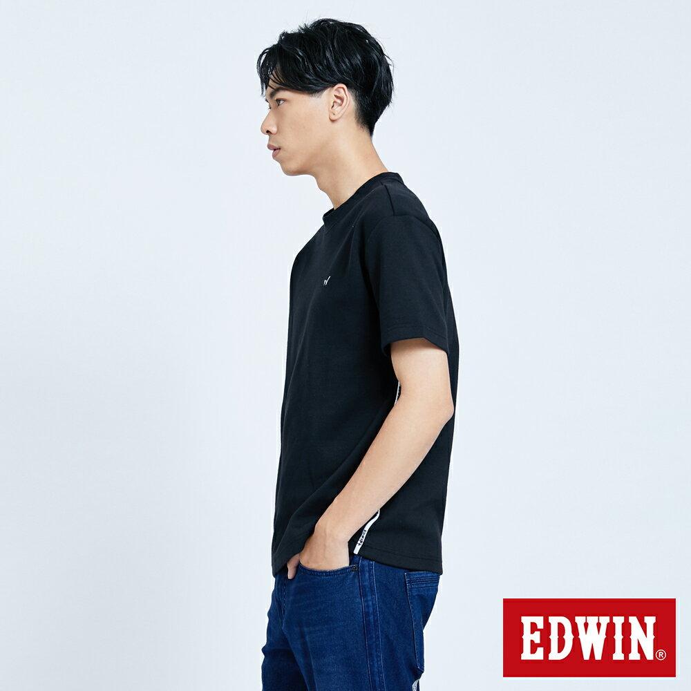 新品↘EDWIN EFS 寬版厚磅 短袖T恤-男款 黑色 4