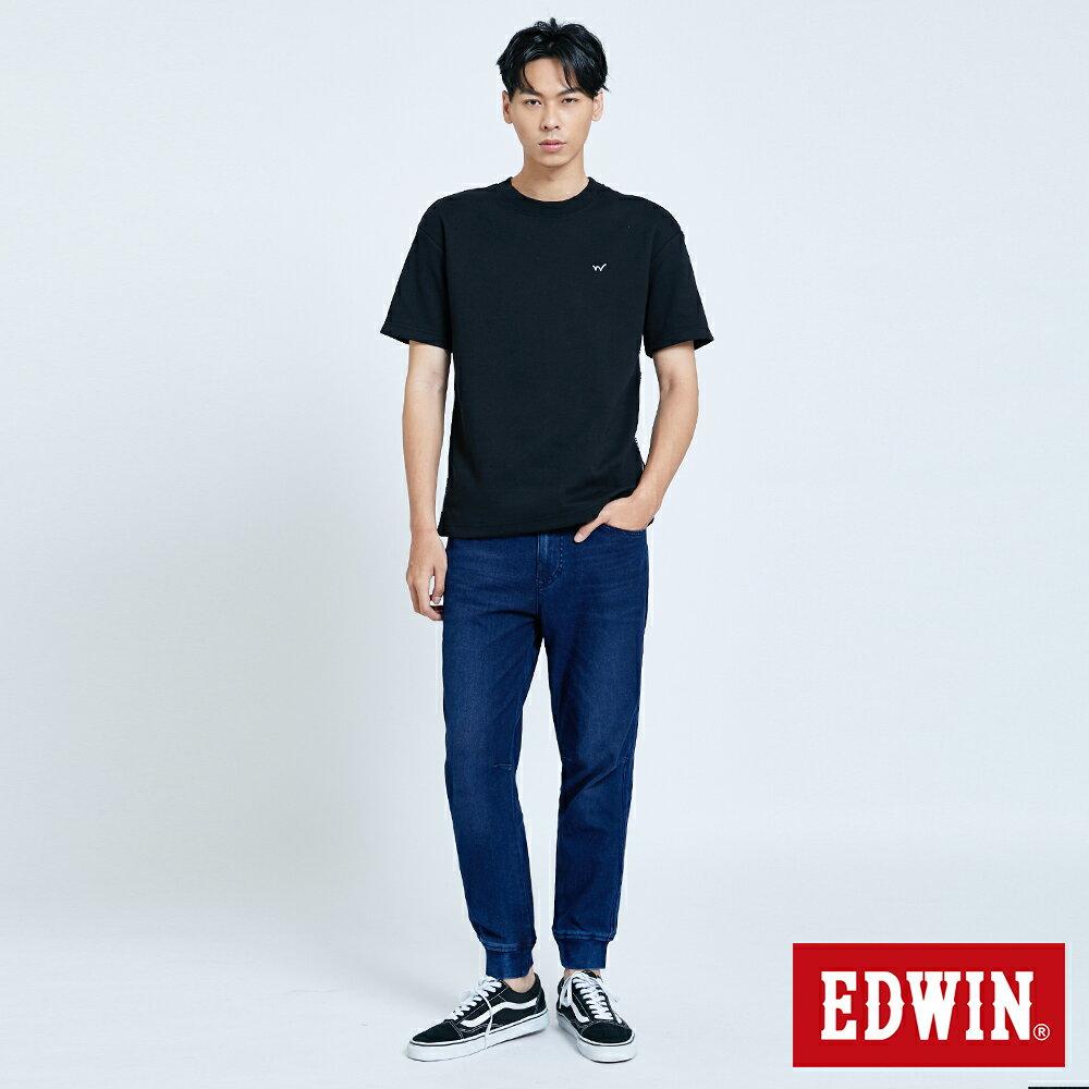 新品↘EDWIN EFS 寬版厚磅 短袖T恤-男款 黑色 5