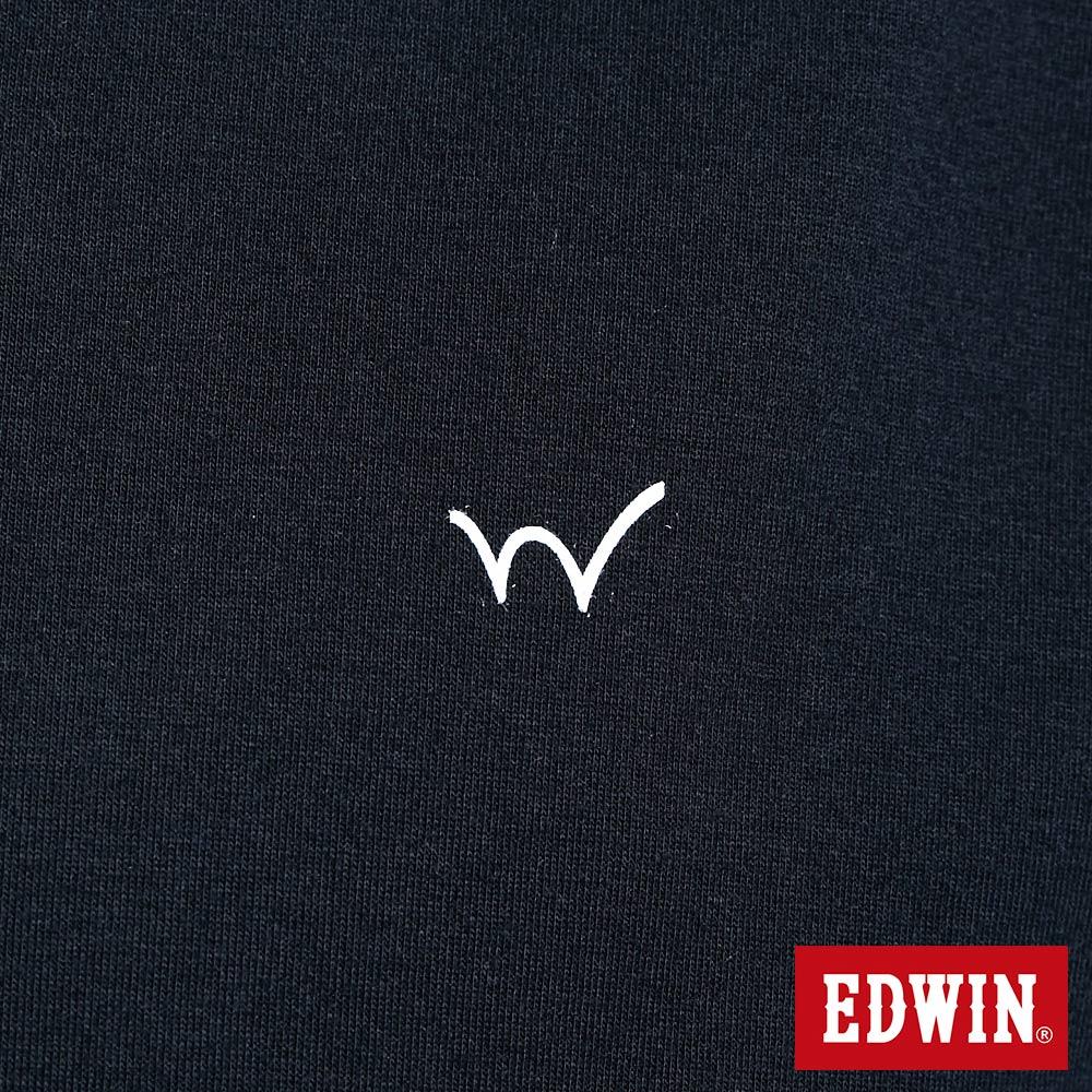 新品↘EDWIN EFS 寬版厚磅 短袖T恤-男款 黑色 6