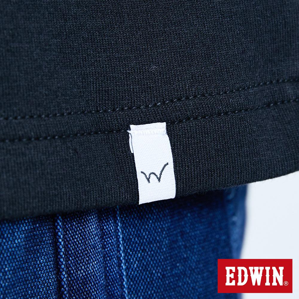 新品↘EDWIN EFS 寬版厚磅 短袖T恤-男款 黑色 8
