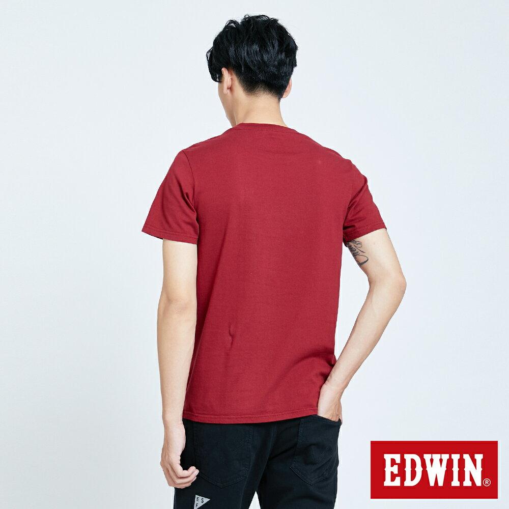 新品↘EDWIN 怪獸LOGO 短袖T恤-男款 朱紅 塗鴉系列 2