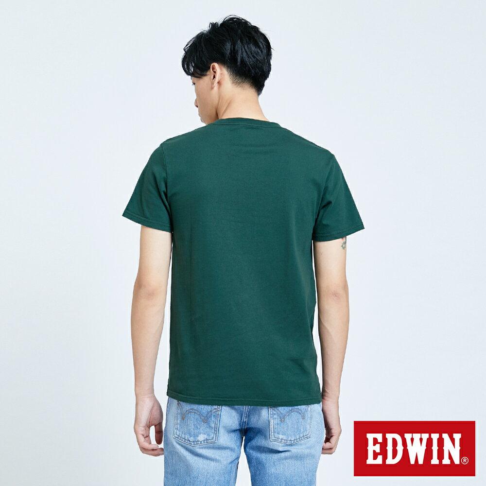 新品↘EDWIN 怪獸LOGO 短袖T恤-男款 墨綠 塗鴉系列 2