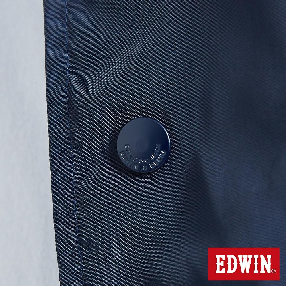 新品↘EDWIN 復古拼接 棒球式風衣外套-男款 丈青 OUTDOOR 8