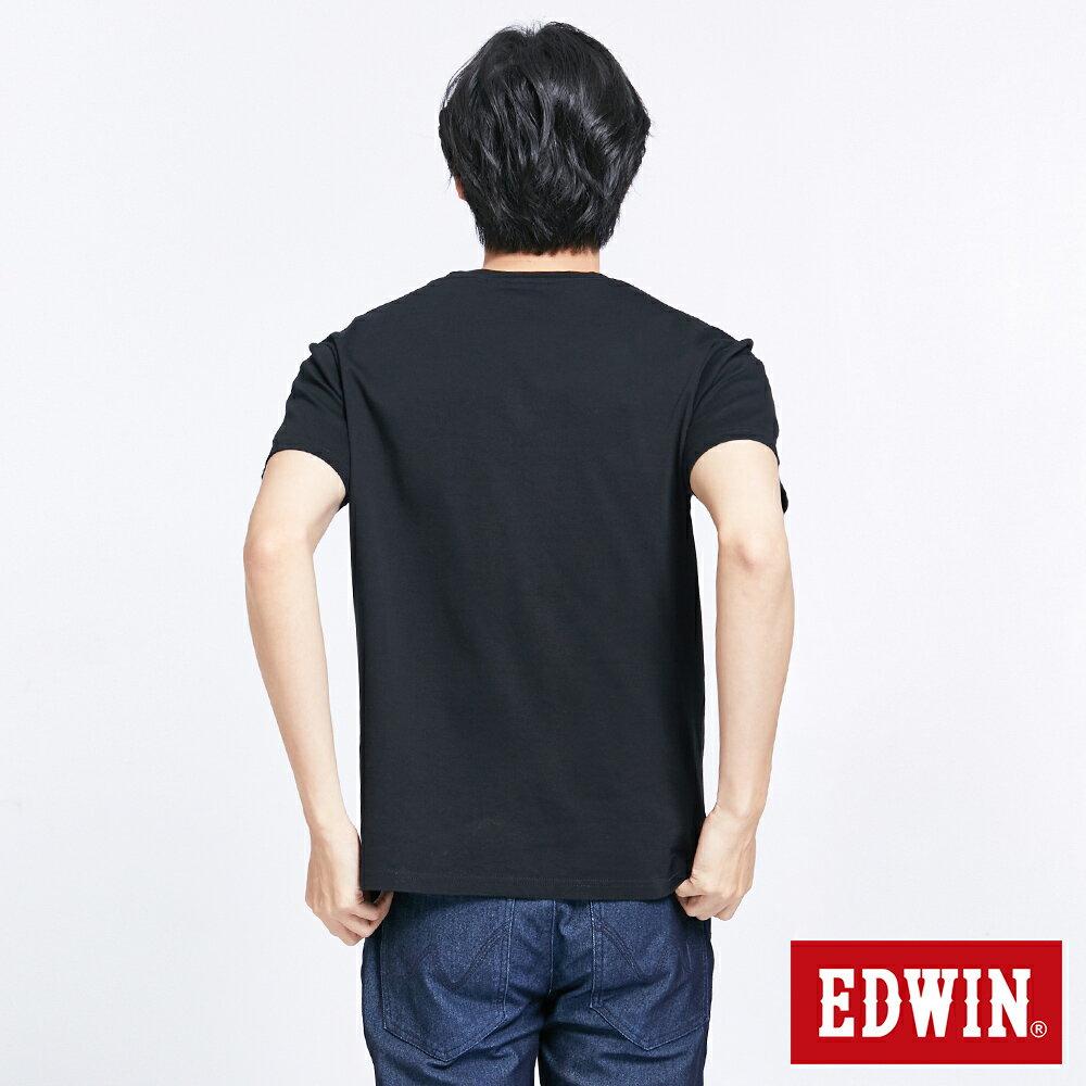 新品↘EDWIN EFS溫變迷彩LOGO 短袖T恤-男款 黑色 2