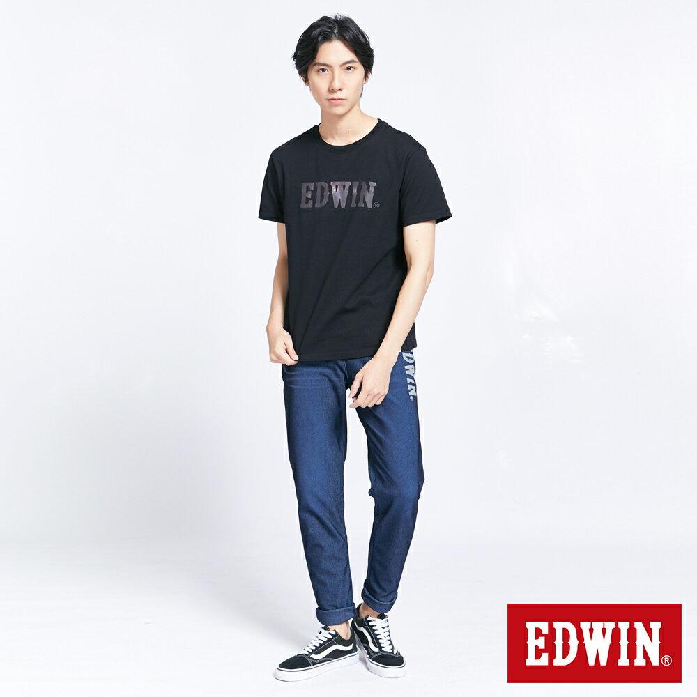 新品↘EDWIN EFS溫變迷彩LOGO 短袖T恤-男款 黑色 5