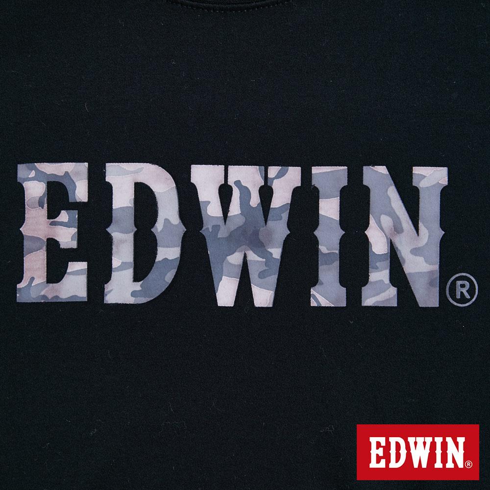 新品↘EDWIN EFS溫變迷彩LOGO 短袖T恤-男款 黑色 7