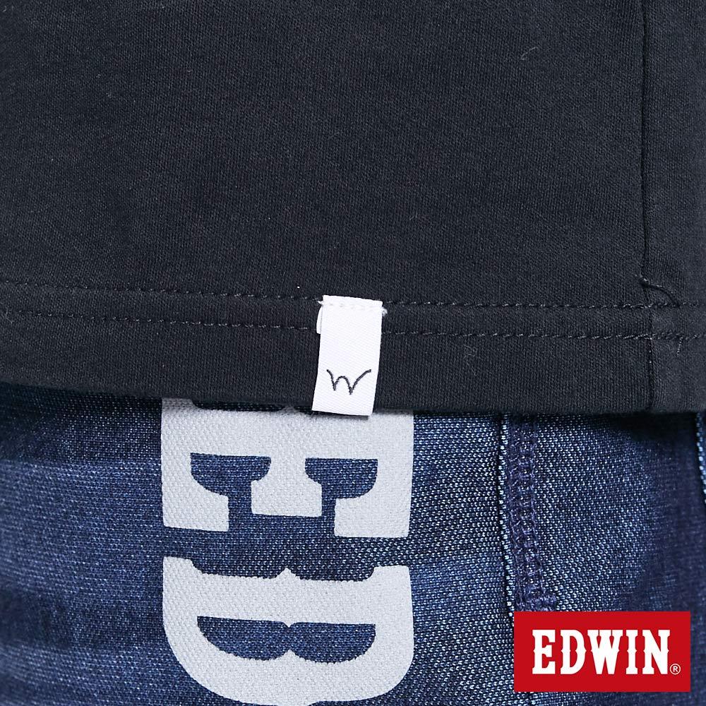 新品↘EDWIN EFS溫變迷彩LOGO 短袖T恤-男款 黑色 8