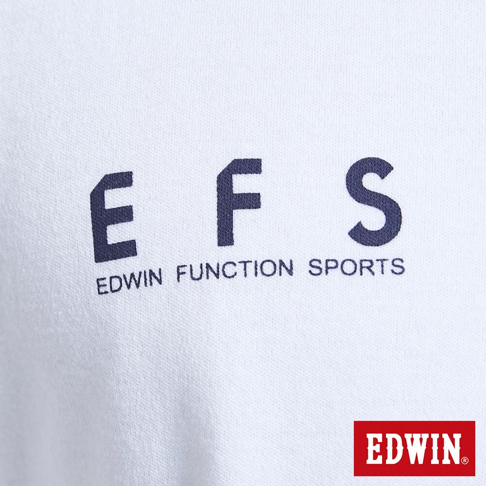 新品↘EDWIN 大W印花 短袖T恤-男款 白色 EFS 6