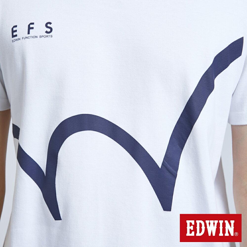 新品↘EDWIN 大W印花 短袖T恤-男款 白色 EFS 7