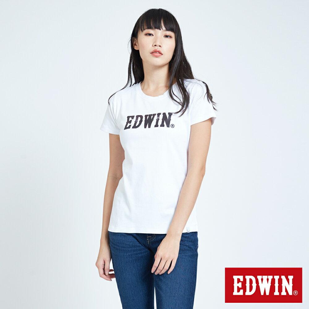 新品↘EDWIN EFS溫變迷彩LOGO 短袖T恤-女款 白色 0