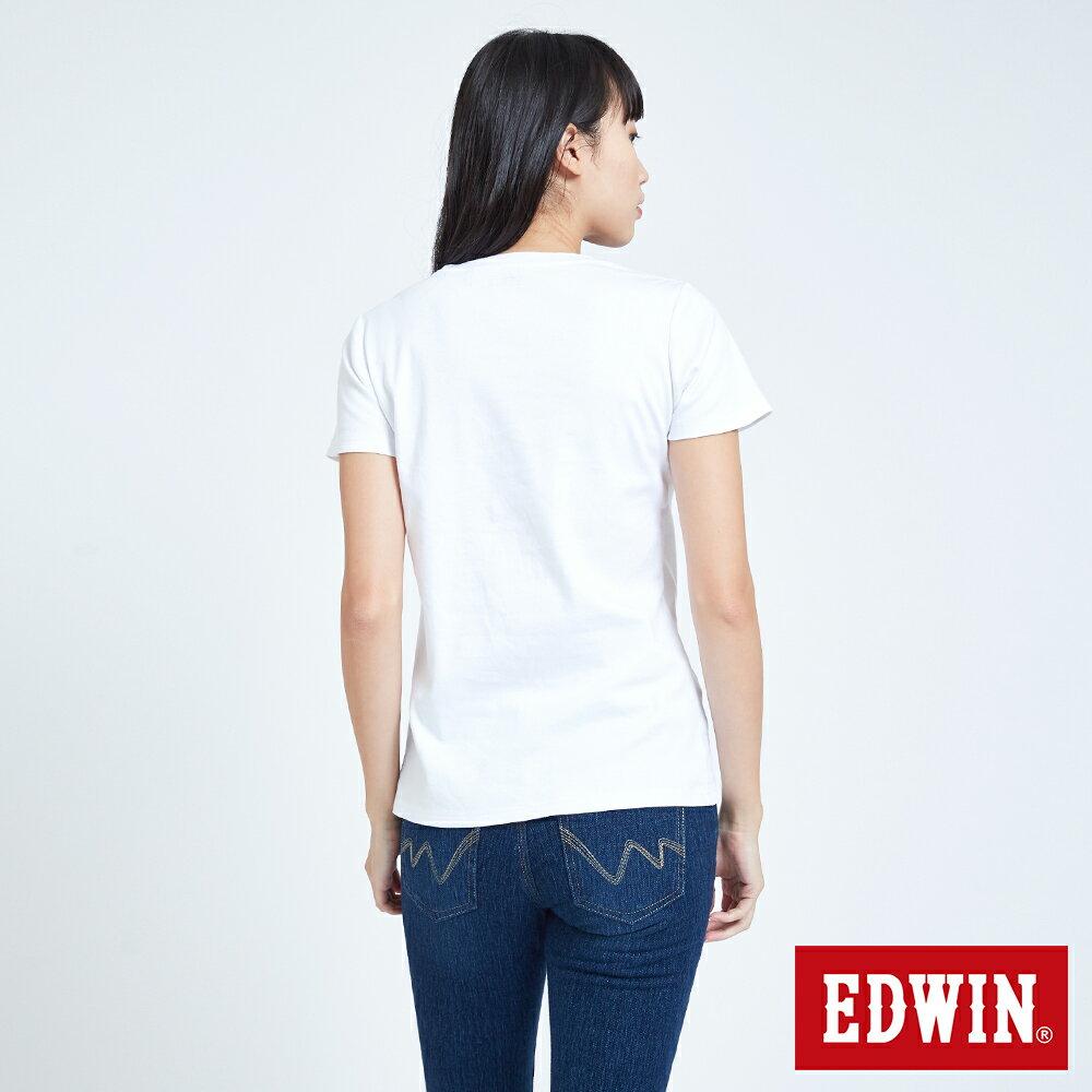 新品↘EDWIN EFS溫變迷彩LOGO 短袖T恤-女款 白色 2
