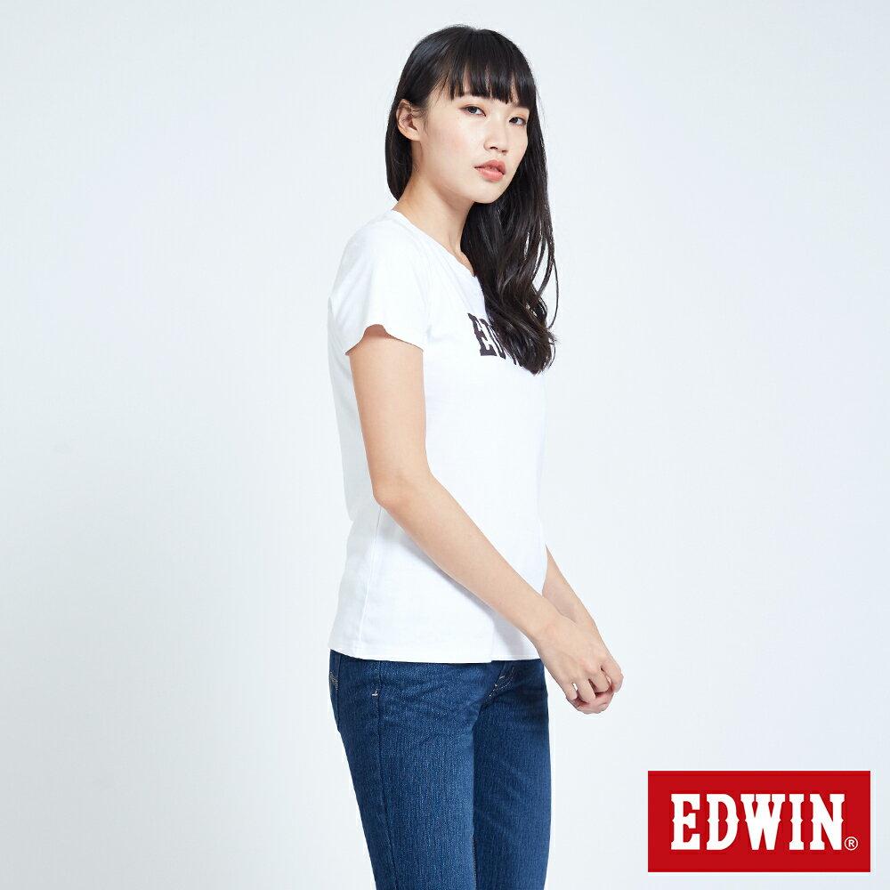 新品↘EDWIN EFS溫變迷彩LOGO 短袖T恤-女款 白色 3