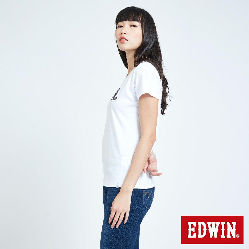 新品↘EDWIN EFS溫變迷彩LOGO 短袖T恤-女款 白色 4