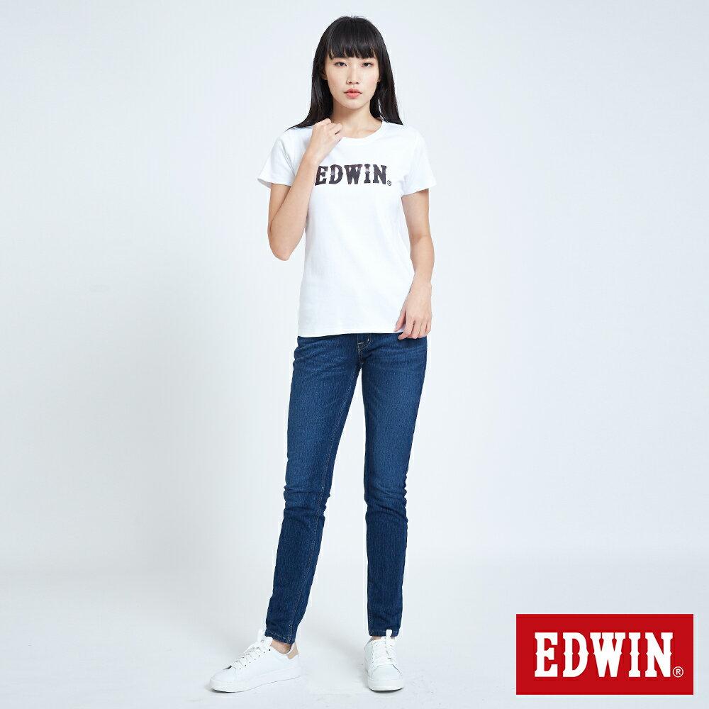 新品↘EDWIN EFS溫變迷彩LOGO 短袖T恤-女款 白色 5
