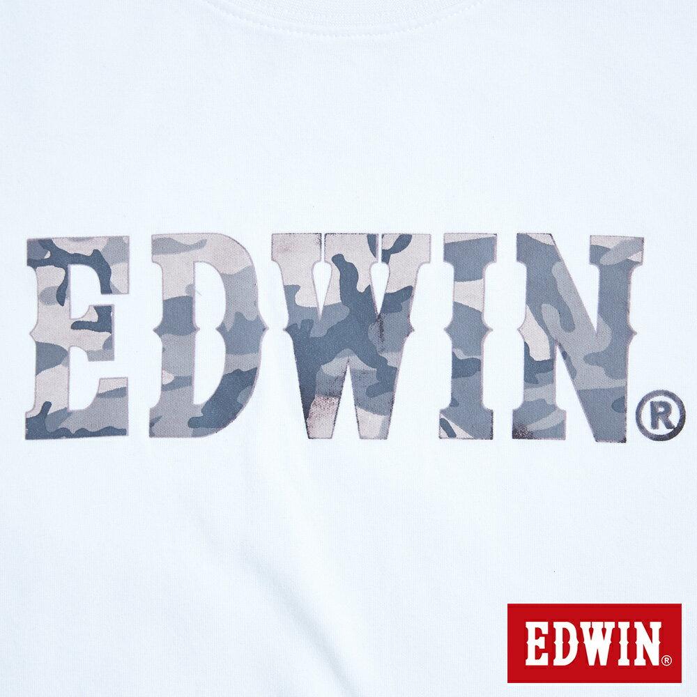 新品↘EDWIN EFS溫變迷彩LOGO 短袖T恤-女款 白色 7