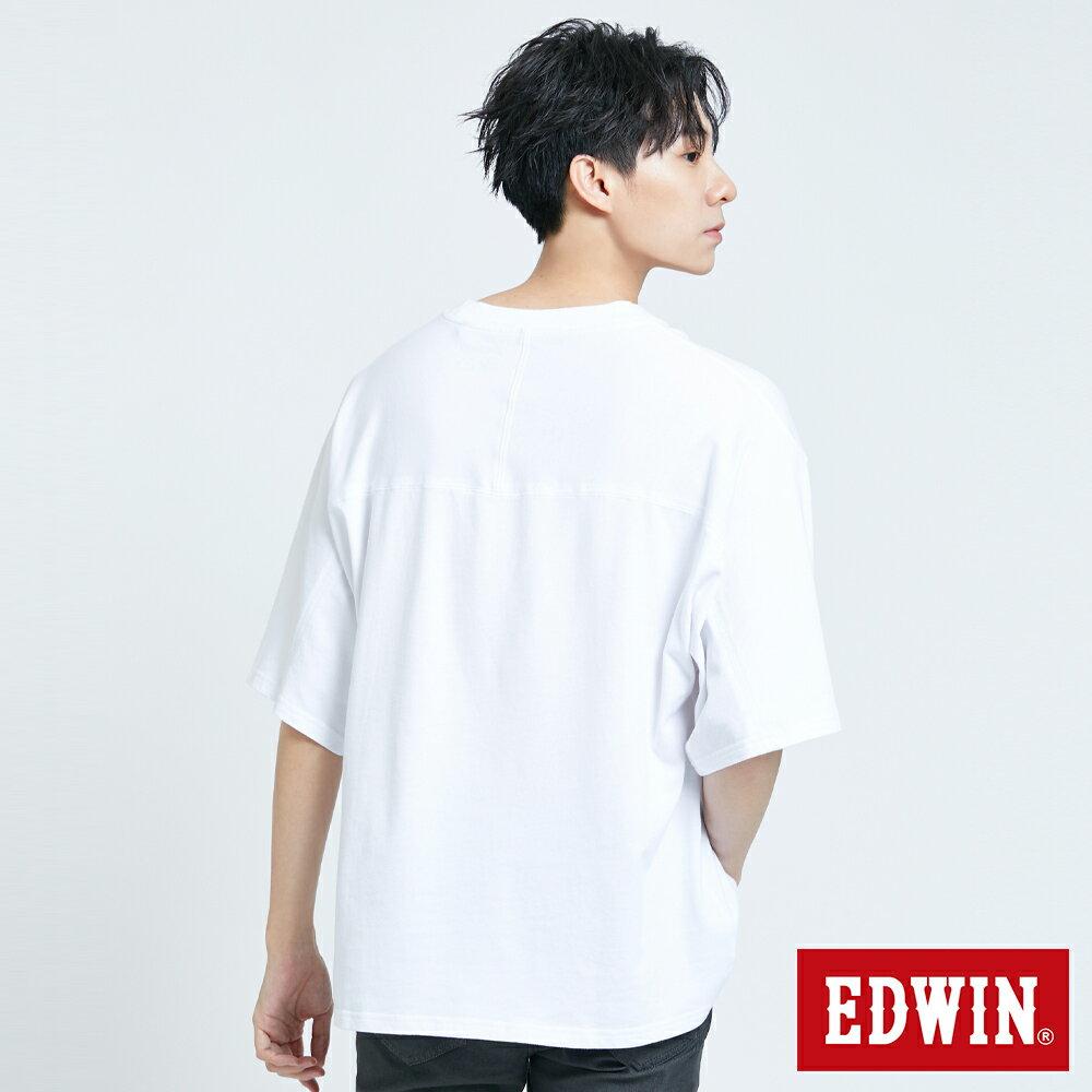 【APP領券9折】新品↘EDWIN 超市貼紙短袖T恤-男款 白色 2