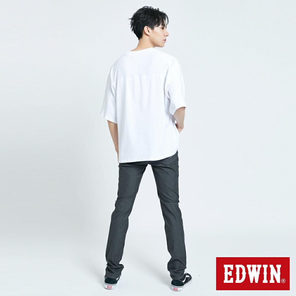 【APP領券9折】新品↘EDWIN 超市貼紙短袖T恤-男款 白色 5