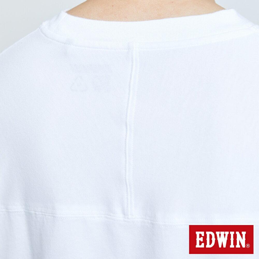 【APP領券9折】新品↘EDWIN 超市貼紙短袖T恤-男款 白色 8