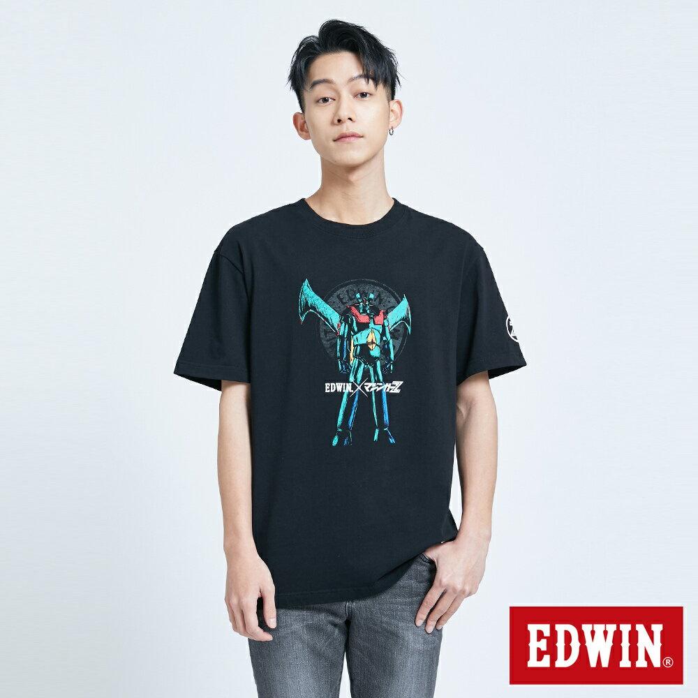【APP領券9折】EDWIN X 無敵鐵金剛 MZ大鐵金剛 短袖T恤-男款 黑色 0