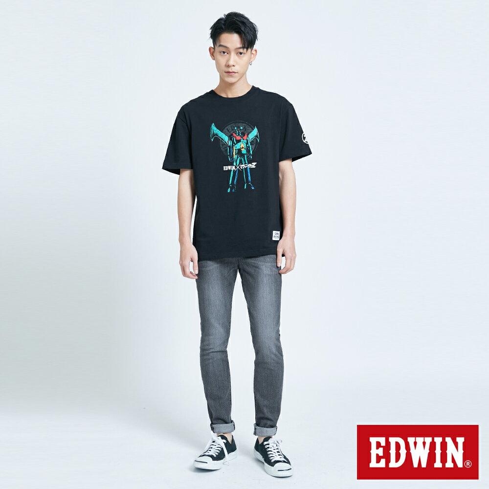 【APP領券9折】EDWIN X 無敵鐵金剛 MZ大鐵金剛 短袖T恤-男款 黑色 4