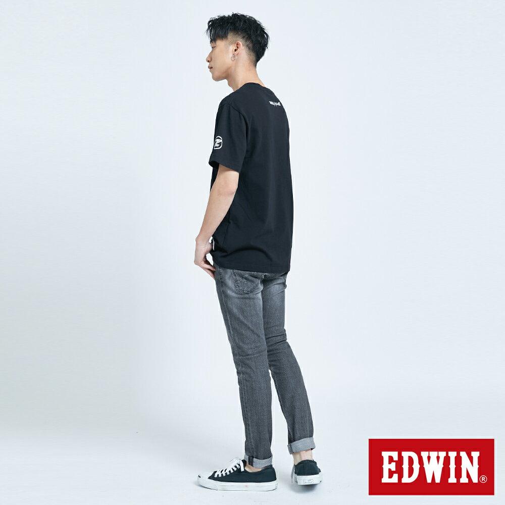 【APP領券9折】EDWIN X 無敵鐵金剛 MZ大鐵金剛 短袖T恤-男款 黑色 6