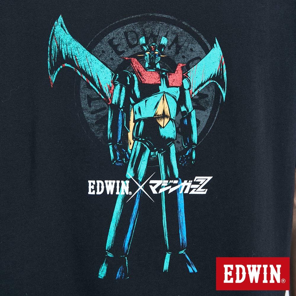 【APP領券9折】EDWIN X 無敵鐵金剛 MZ大鐵金剛 短袖T恤-男款 黑色 7