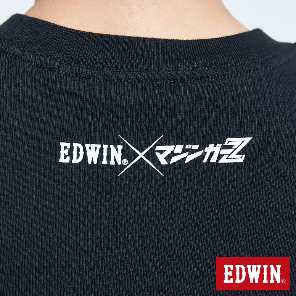 【APP領券9折】EDWIN X 無敵鐵金剛 MZ大鐵金剛 短袖T恤-男款 黑色 9