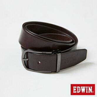 【9折優惠↘】EDWIN 金屬環頭皮帶-男款 深咖啡色