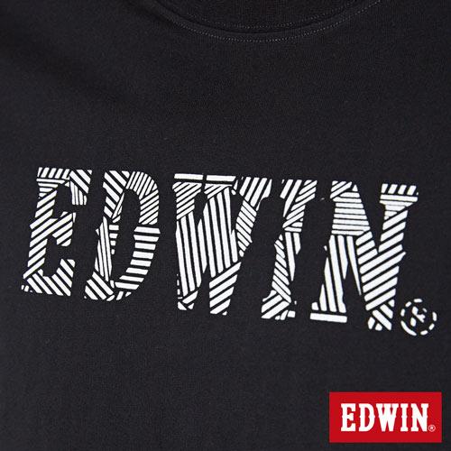 【最愛T恤。專區490元均一價↘】EDWIN 幾何LOGO運動風 短袖T恤-男款 黑色【4/26單筆588輸入序號17marathon-3。再折88元 /單筆1800輸入序號EDWIN200-1。再折200】 5