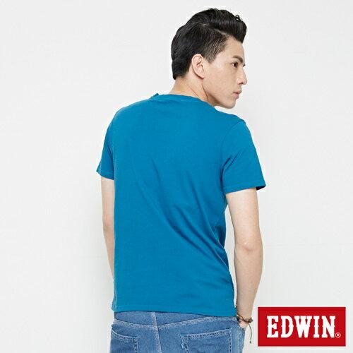 【網路限定款。8折優惠↘】EDWIN 海浪紋E字 短袖T恤-男款 灰藍色 1