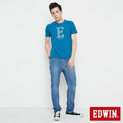 【網路限定款。8折優惠↘】EDWIN 海浪紋E字 短袖T恤-男款 灰藍色 3