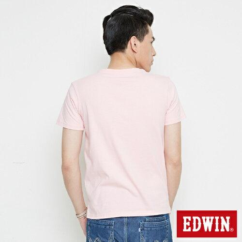 【網路限定款。8折優惠↘】EDWIN 3D幾何圓圖 短袖T恤-男款 淺粉紅 1