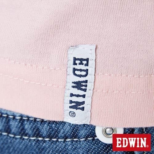 【網路限定款。8折優惠↘】EDWIN 3D幾何圓圖 短袖T恤-男款 淺粉紅 5