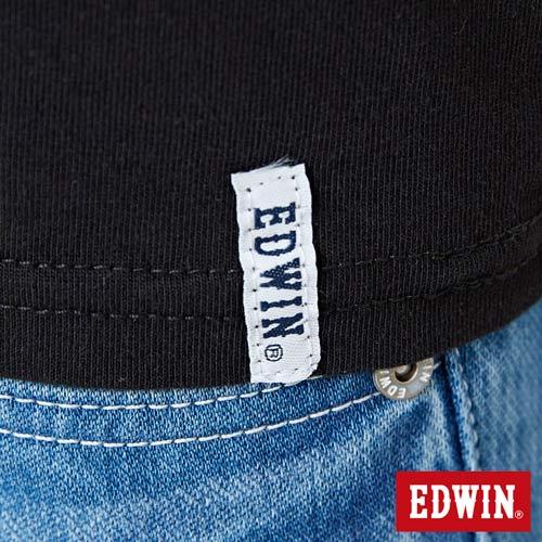 【網路限定款。8折優惠↘】EDWIN 3D幾何圓圖 短袖T恤-女款 黑色 5