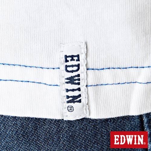 【網路限定款。8折優惠↘】EDWIN 延伸方框LOGO 短袖T恤-男款 白色 5