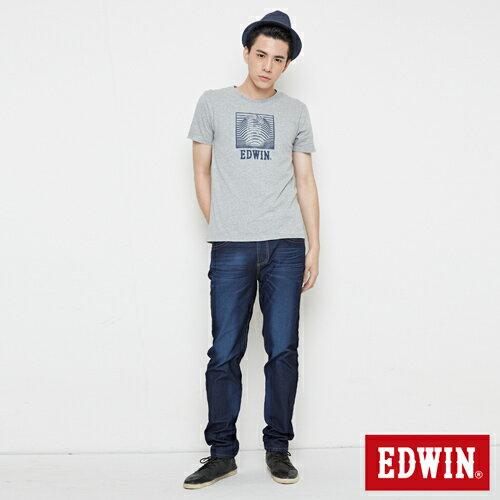 【最愛T恤專區。490均一價↘】EDWIN 3D裸視E字 短袖T恤-男款 麻灰色 3