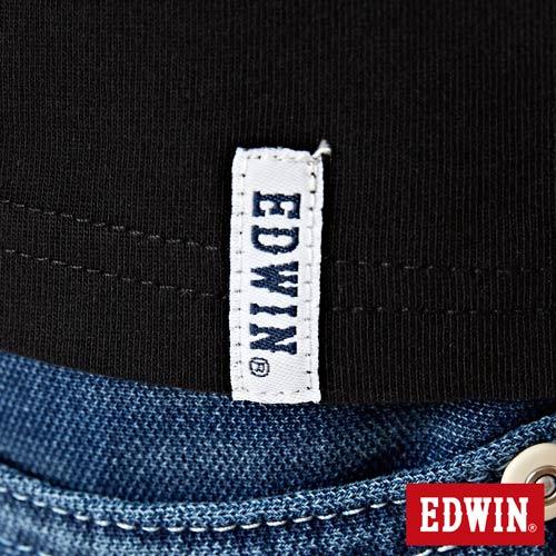 【網路限定款。8折優惠↘】EDWIN 3D裸視E字 短袖T恤-男款 黑色 5