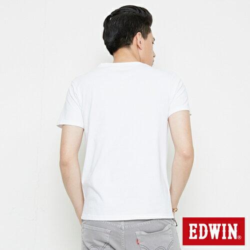 【SOY感謝慶。2件839元↘】EDWIN 街頭塗鴉LOGO 短袖T恤-男款 白色【6/26-7/3 AM09:59】【點數加碼10+10倍↘】 1