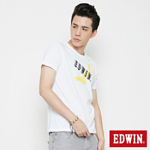 EDWIN 街頭塗鴉LOGO 短袖T恤-男款 白色 2