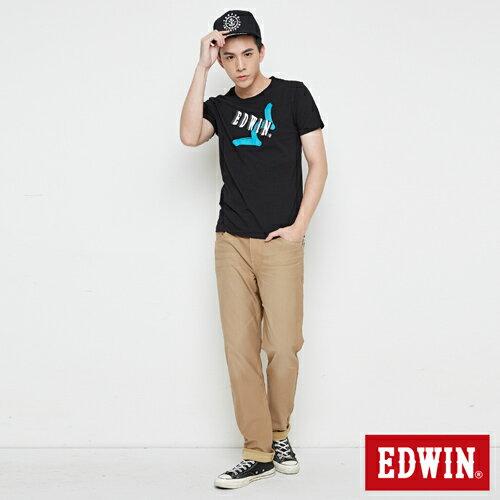 【網路限定款。8折優惠↘】EDWIN 街頭塗鴉LOGO 短袖T恤-男款 黑色 3