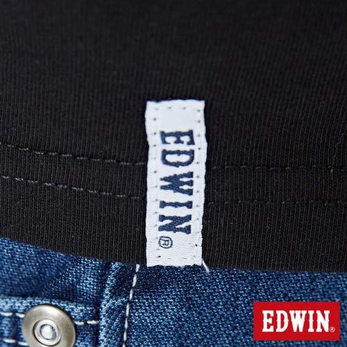 【網路限定款。8折優惠↘】EDWIN 九宮格疊影 短袖T恤-男-黑色 5